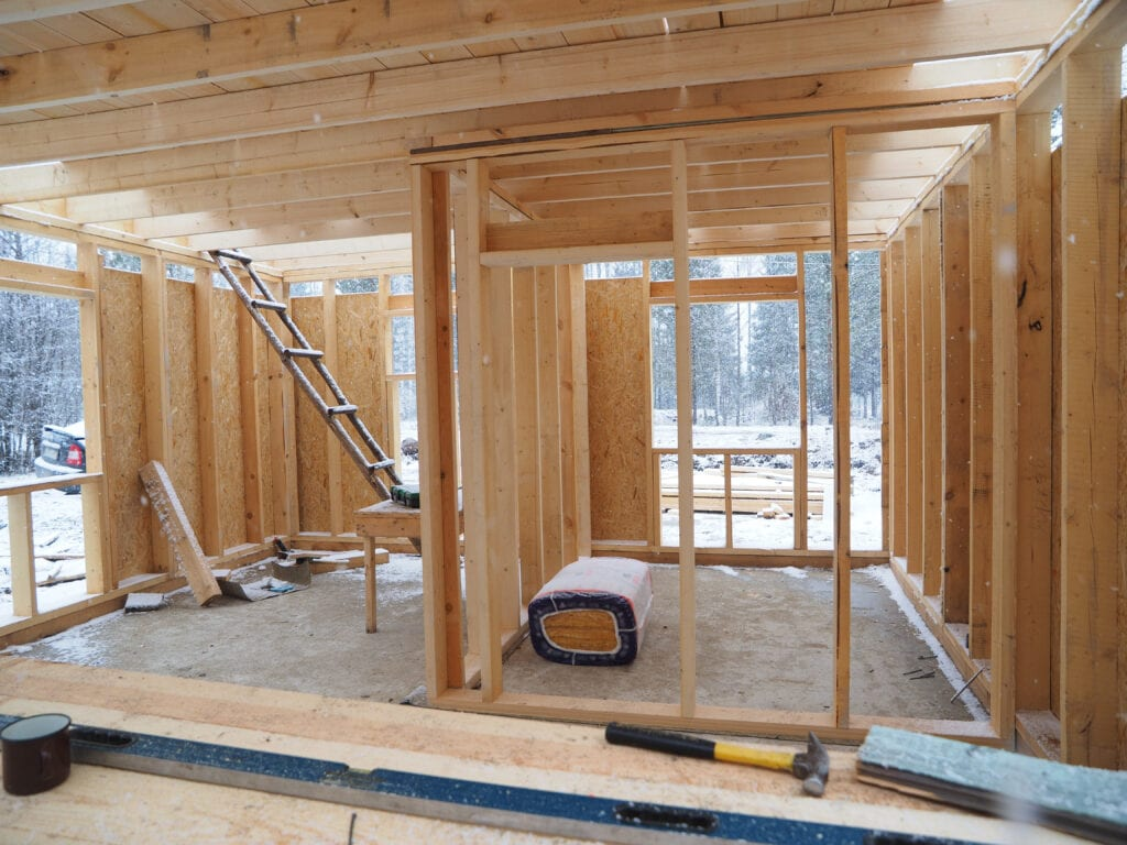 Construction of a frame house